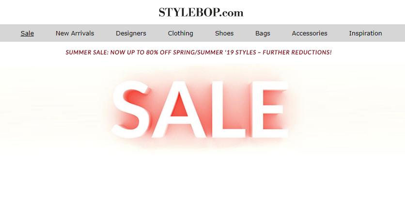 Stylebop網站2019獨家優惠碼,所有單品85折