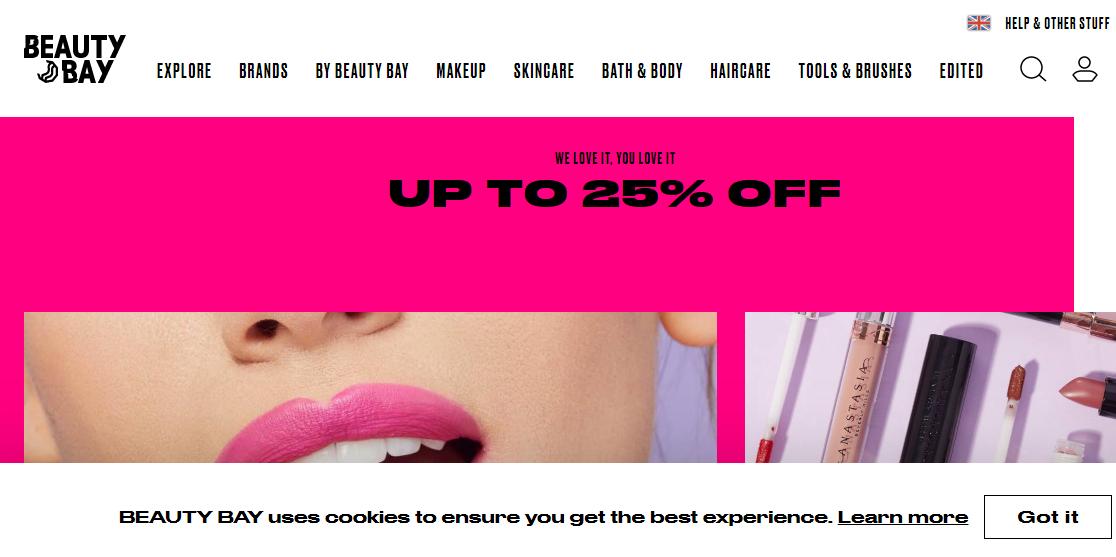 Beauty bay網站 國際口紅日精選口紅唇釉低至75折,商品滿$45免費直郵
