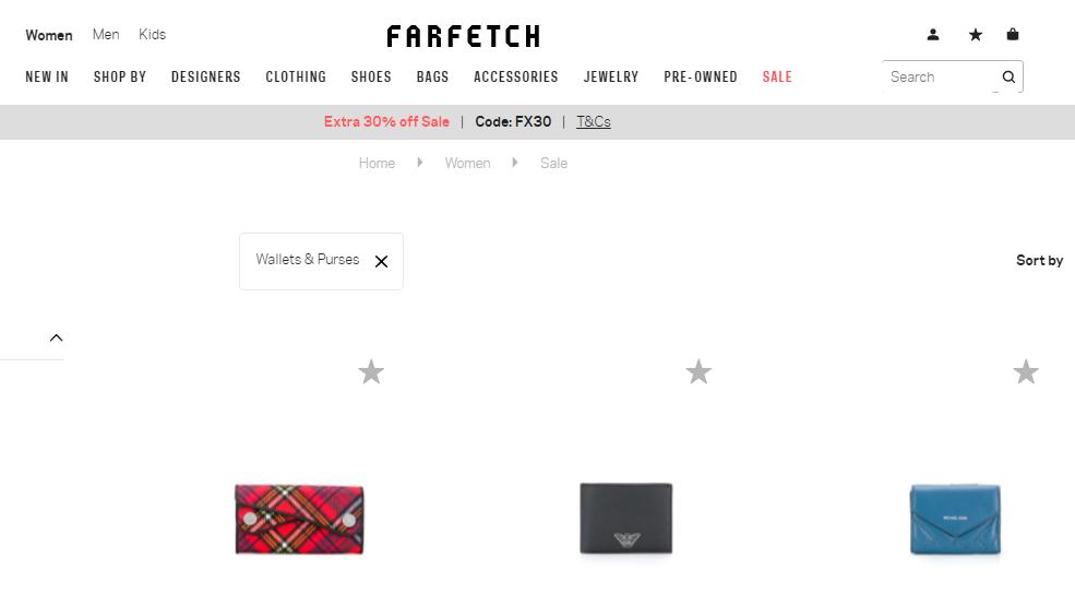 名牌網Farfetch優惠碼2019, 名牌銀包減價低至4折+限時額外7折優惠, 超多人氣款式