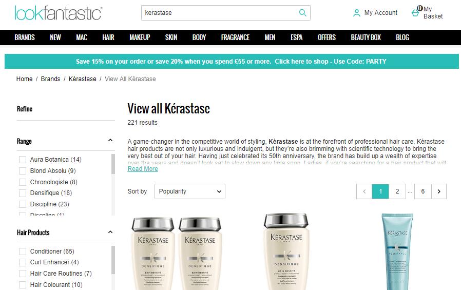 英國網站Lookfantastic優惠碼2019, 購法國高端頭髮護理品牌 Kerastase有7折+額外9折優惠