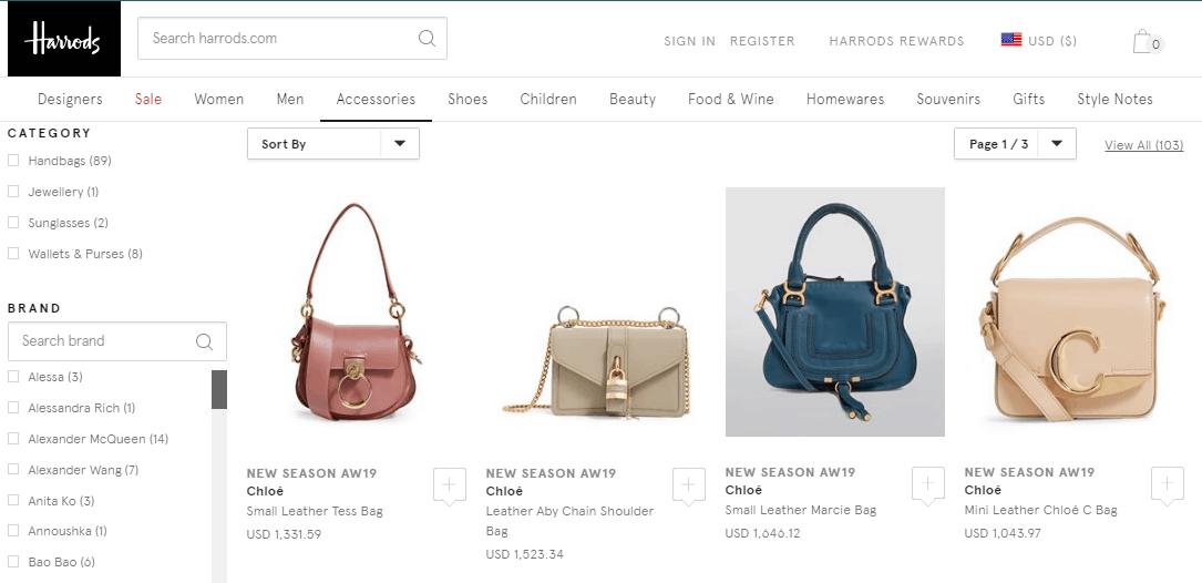 英國百貨Harrods優惠碼2019, 超多靚款Chloé包包上架 , 低至香港價錢72折