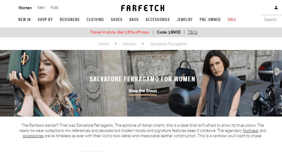 Farfetch網名牌大減價優惠2019, 好多靚款靚色包包折扣, Salvatore Ferragamo折後低至香港價錢62折