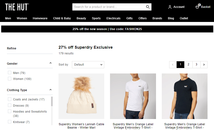 英國網站The Hut優惠碼2019, 購人氣品牌Superdry有73折優惠,折後低至香港41折, 超多男女新款單品任你挑