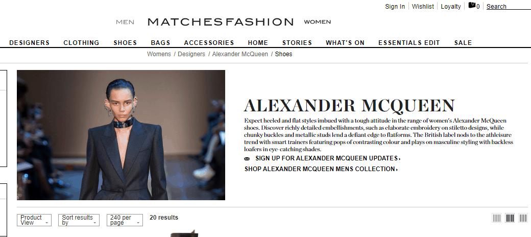 英國網站Matchesfashion優惠碼2019, 入手McQueen人氣厚底鞋低至香港售價75折