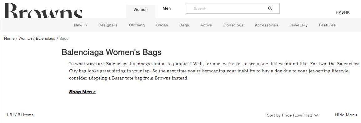 Browns Fashion名牌網優惠碼2019, 購Balenciaga新款包包 , 低至官網64折