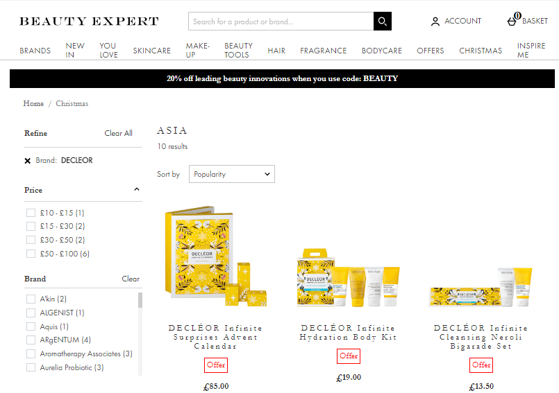 Beauty Expert網站優惠碼2019, 法國DECLÉOR聖誕禮盒78折優惠!聖誕倒數月曆禮盒24款產品只要HK$673