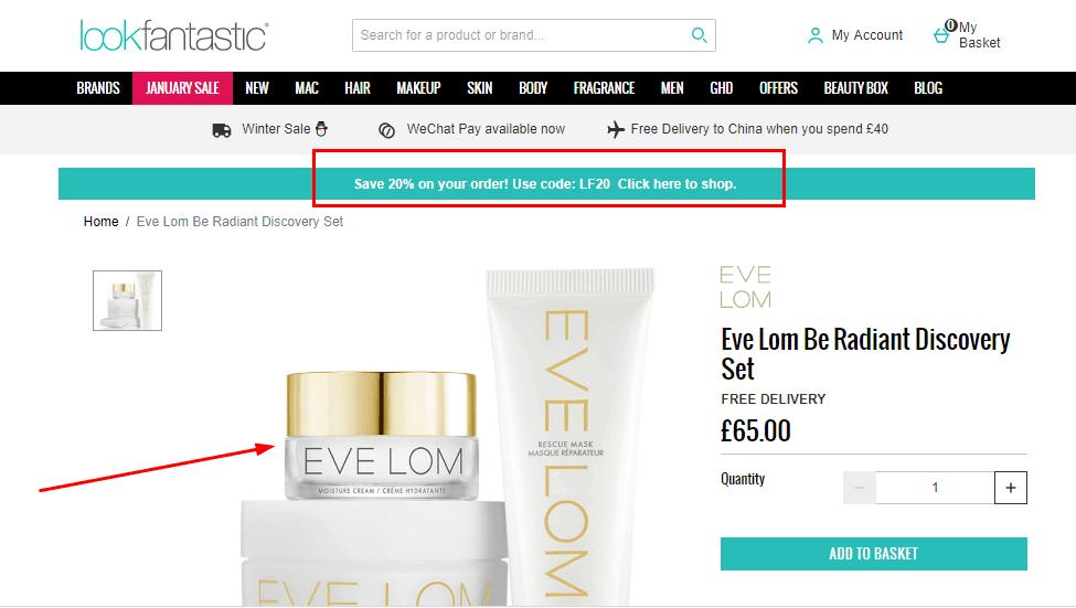 英國網站lookfantastic優惠碼2020, EVE LOM全新套裝快閃7折優惠 , 原價HK$682,折完只要HK$477!