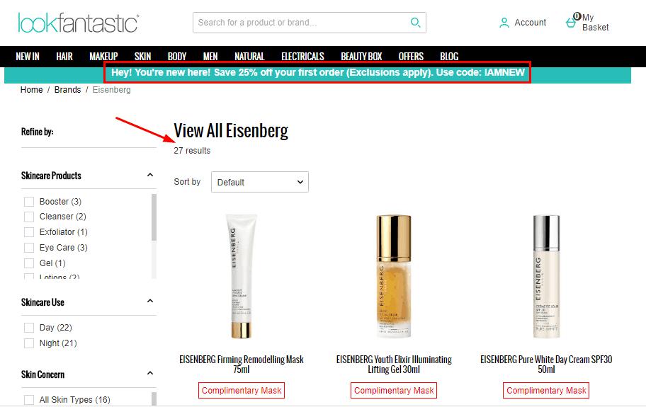 新品牌上架, Lookfantastic網優惠碼2020,法國高級護膚品EISENBERG低至HK$766.5一枝, 滿HK$900就再送一枝