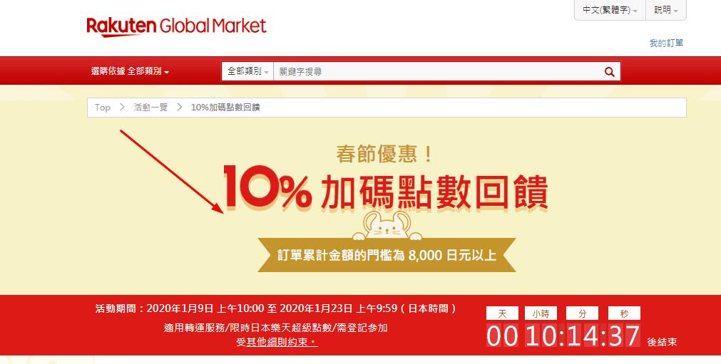 日本樂天市場 獨家購物優惠券2020, 1,200日元優惠券/10%點數回饋