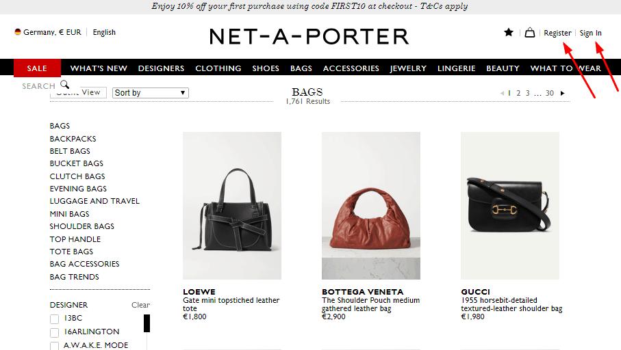 NET-A-PORTER優惠碼2020, 新年促銷, 入手精選名牌袋鞋有超筍退稅價, 低至售價6折
