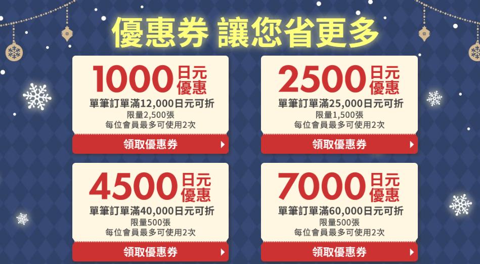 日本樂天市場优惠券2020,10%點數回饋/最高7,000日元優惠券