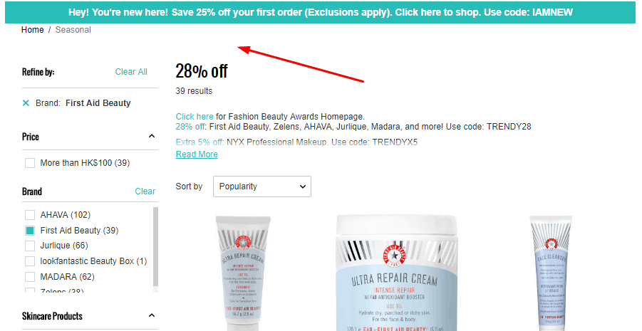 Lookfantastic網站2020優惠碼, 冬天護膚推薦, 敏感肌最愛品牌First Aid Beauty有72折