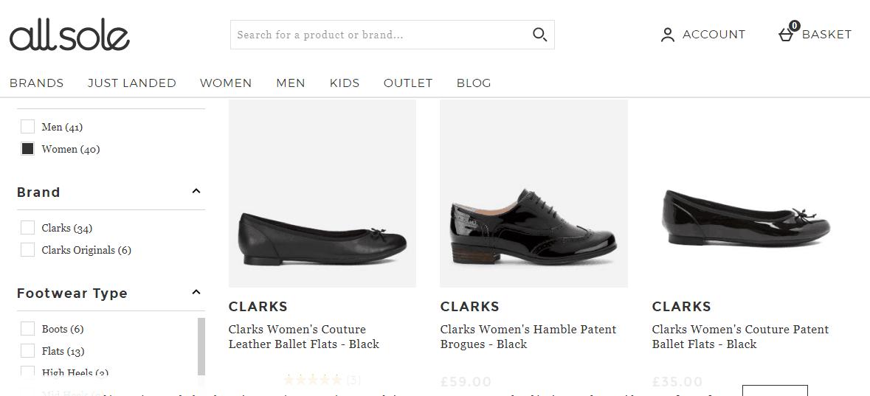 英國網站Allsole 2020優惠碼, 購Clarks男女鞋款有78折, 熱銷款式低至價錢35折