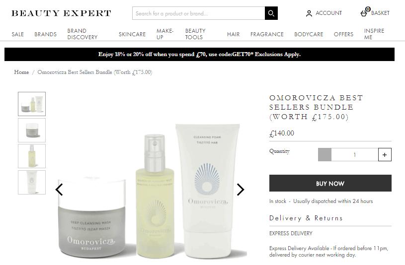 英國Beauty Expert網優惠碼2020, 驚喜優惠,超多人氣護膚品套裝有折, 最強口碑的Eve Lom皇牌潔面霜折扣只要HK$660